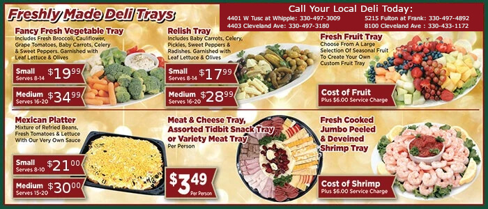Call your local deli to learn about these deli trays.